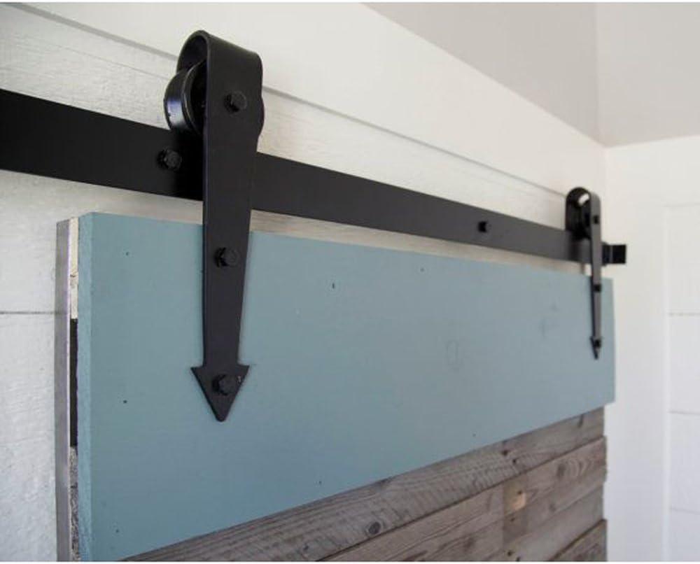 Kit de herrajes para riel de puerta corredera doble de madera ...