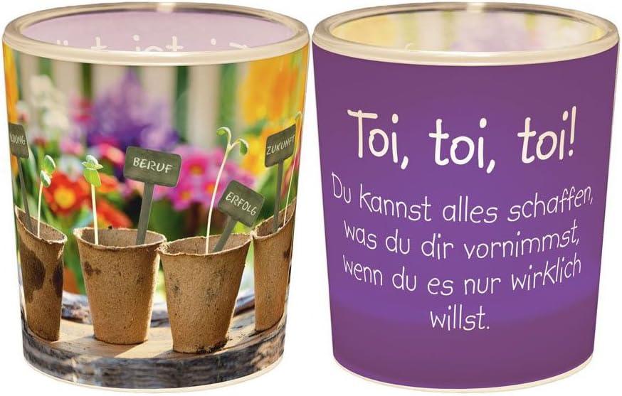 Windlicht Teelicht 6x6cm Für Dich Das Leben Geschenk Tischkerze Dekolicht