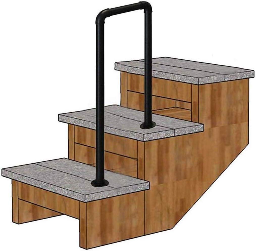 Pasamanos de escalera En Forma De U Forjado Tubería De Hierro De La Escalera Baranda, Profesional De 2 O 3 Paso A Paso Cubierta Exterior De Ancianos Loft Corredor De Seguridad Antideslizante De La Bar
