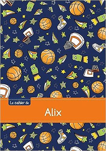 Livre gratuits Le cahier d'Alix - Blanc, 96p, A5 - Basketball pdf