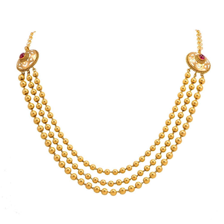 Buy Joyalukkas Apoorva Collection 22k Oxidized Gold Chain Necklace ...