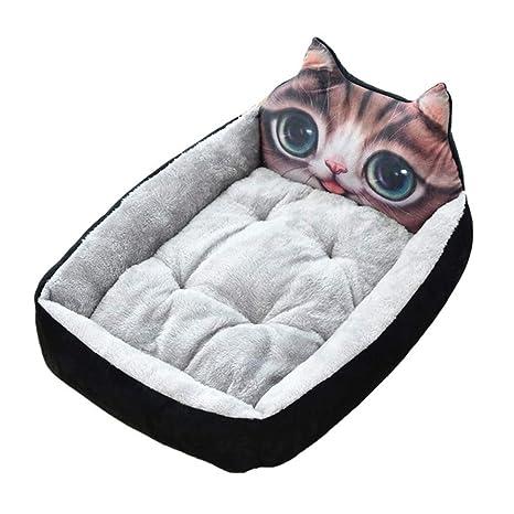 Amazon.com: BOOB - Sofá cama de invierno para perro, suave ...