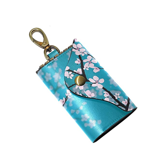 Amazon.com: Funda de piel para llave, diseño de flor de ...