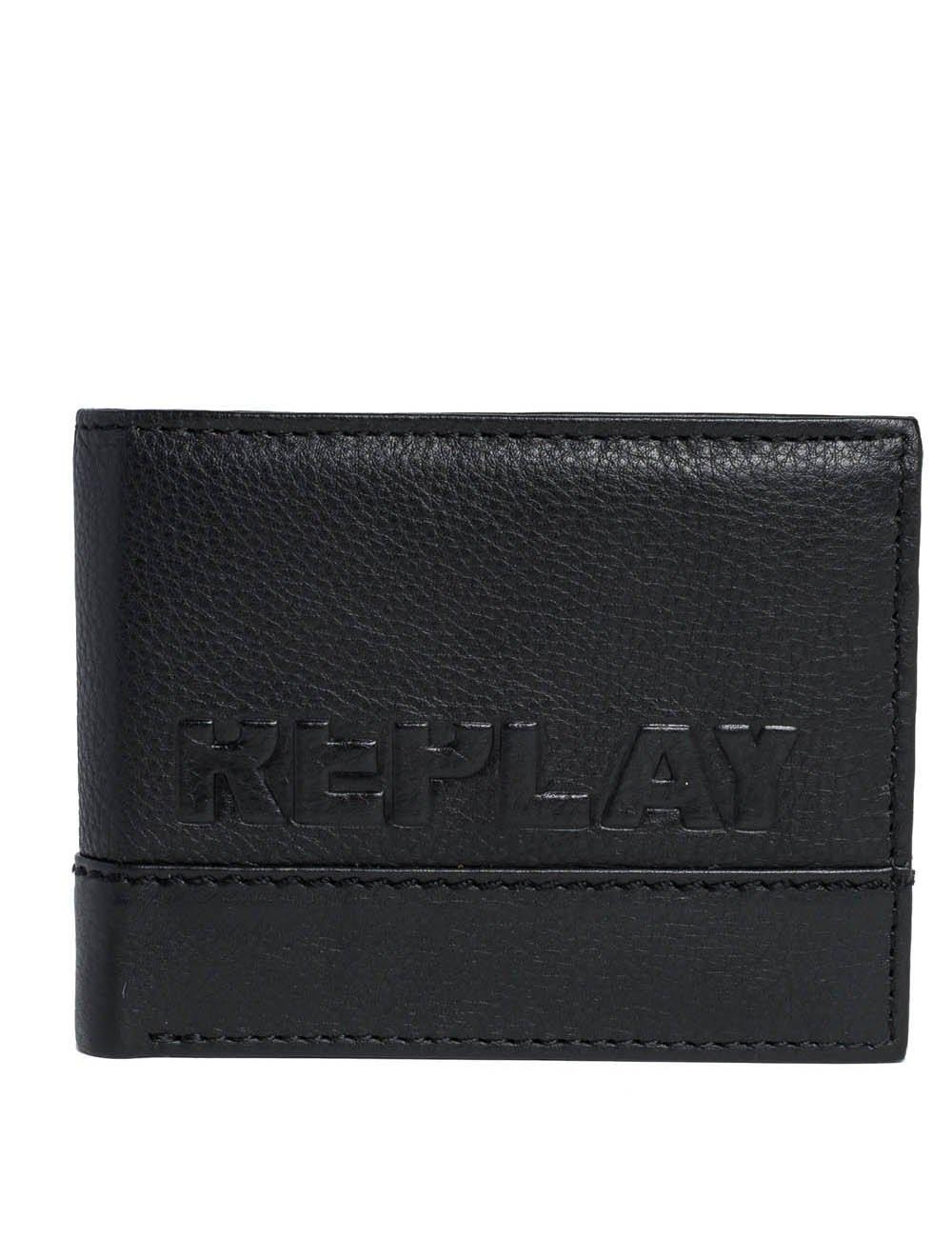 Replay Men's Leather Black Wallet