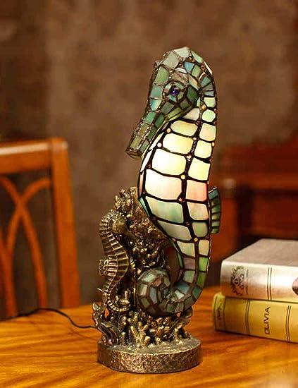Amazon.com: Pipixia TXY Lámpara de mesa de cristal de estilo ...