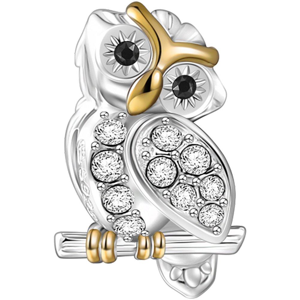 Soufeel Amour Animal Charms Hibou Mouton Chat Charm en argent sterling 925/pour bracelet europ/éenne