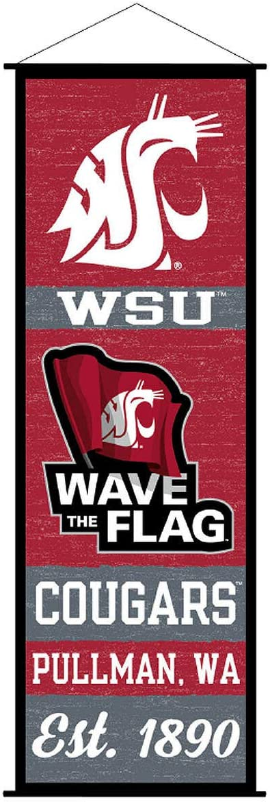Washington State Cougars Banner and Scroll Sign