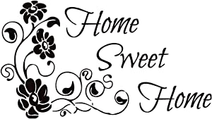 Home Sweet Home Wall Decal Vinyl Family Sticker Home Decor (12.5''x22'')