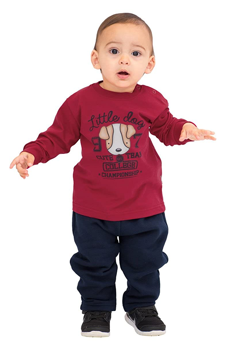 Pulla Bulla Baby Boy Long Sleeve Graphic Shirt Puppy Tee BB34153