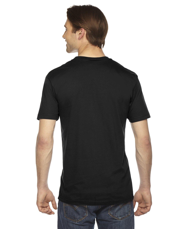 American Apparel 2456W Unisex Fine Jersey Short-Sleeve V-Neck T-Shirt Black 2XL by American Apparel (Image #3)
