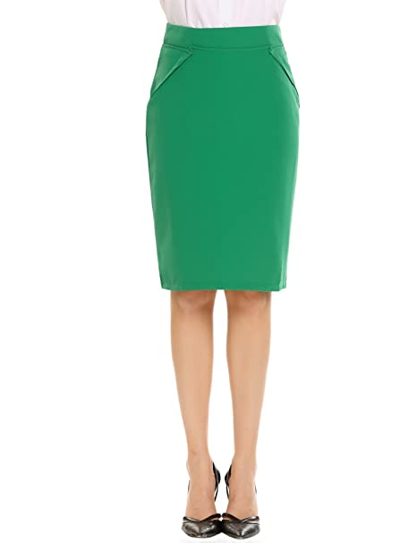 9e4a3252edf3 Image Unavailable. Image not available for. Color: Women's Below The Knee  Pencil Skirt ...