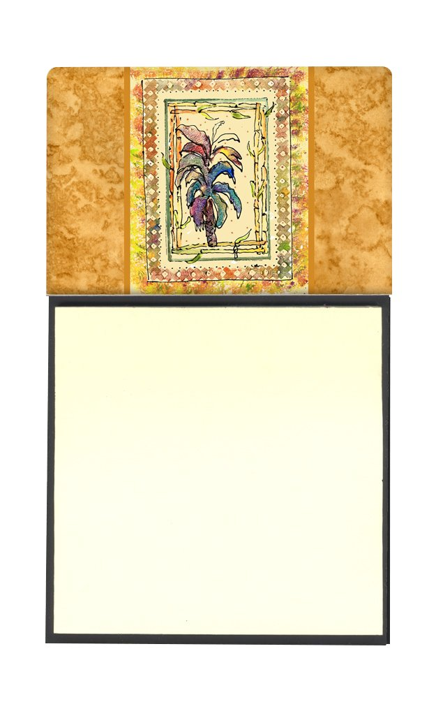 Multicolor Carolines Treasures 8615SN Palm Tree Refillable Sticky Note Holder or Postit Note Dispenser 3.25 by 5.5