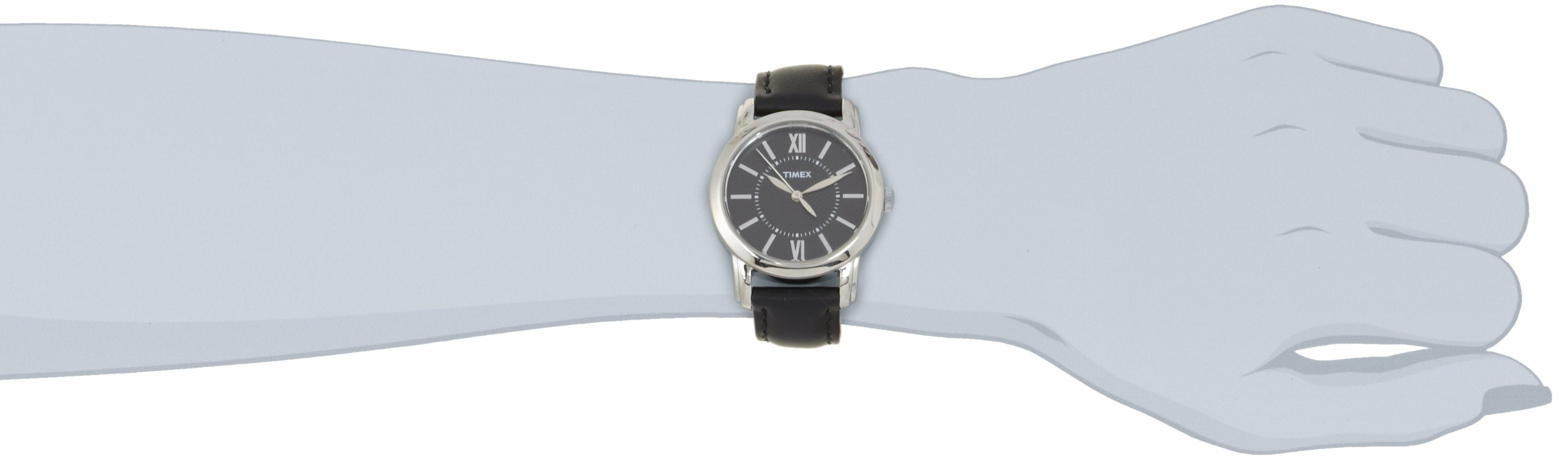 Timex Women's T2N6819J Style Classic Black Leather Strap Watch by Timex (Image #3)