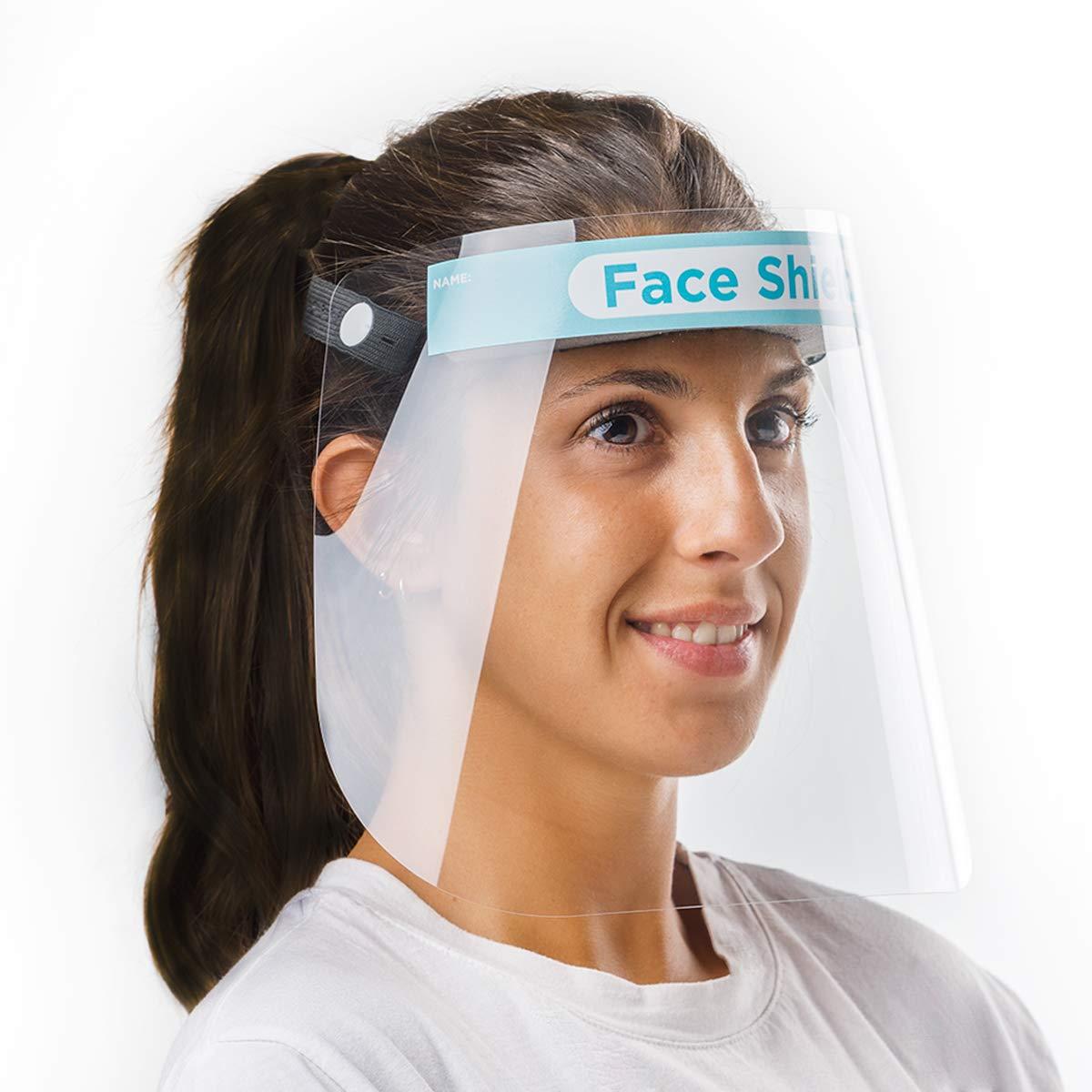 Pantalla Protección Facial Sonaprotec - Protector Facial Antivaho. Talla Niños y Adultos. Visera Protectora para la Cara Face Shield Fabricadas en España - Talla Mediana - Pack 1