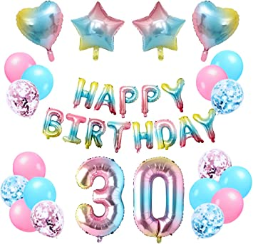 30th Birthday Anniversary String Glitz Pink Hanging Party Supply Decorations