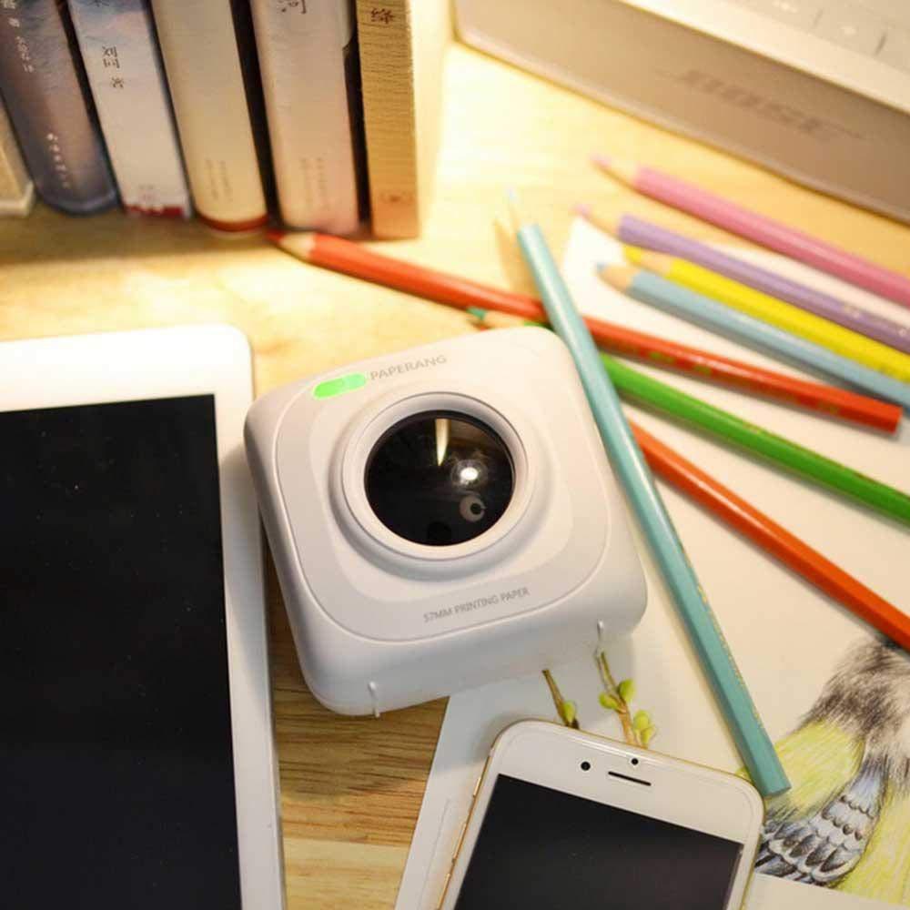 Tenlso Stampante Fotografica Wi-Fi Multifunzione Wireless Stampante Fotografica Portatile Istantanea Portatile Mini-Stampante per Viaggi Divertimento e Studio Lavoro Compatibile con Android e iOS