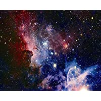 Kooer 9x6ft Nebula Galaxy Pictiorial Cloth Digital Printing Studio Photography Backdrops
