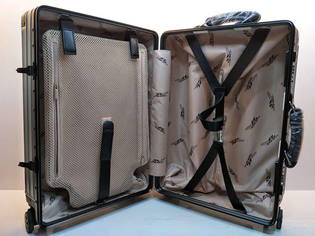 Rayem Fashion Luggage, Universal Wheel Aluminum Frame Trolley case, Ultra-Light and Durable Password Suitcase (Color : Black, Size : 20) by Rayem (Image #7)