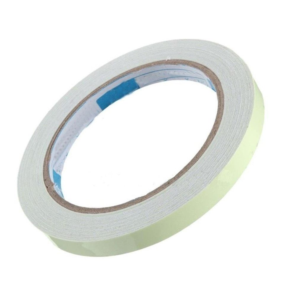 Myhouse Luminous Tape Glow in the Darkness Tape Home Stage Decorations Photoluminescent Tape(10mm x 3m)