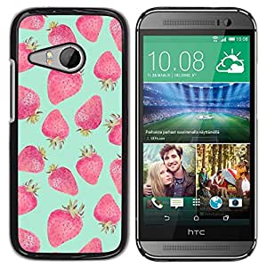 Plastic Shell Protective Case Cover    HTC ONE MINI 2 / M8 MINI    Green Red Watercolor @XPTECH