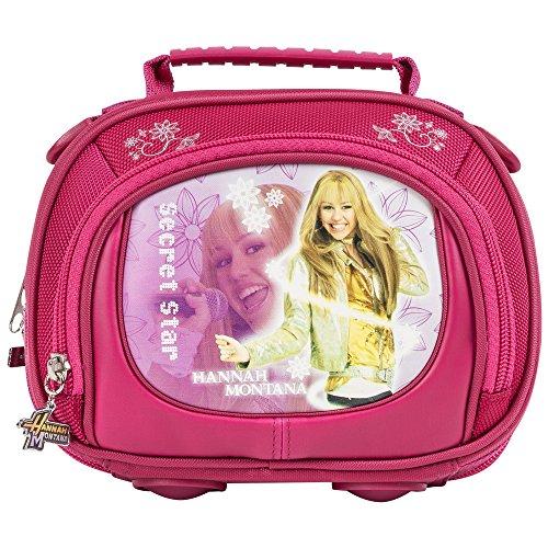 Disney - Borsa, tasca frontale con zip, motivo: Hannah Montana