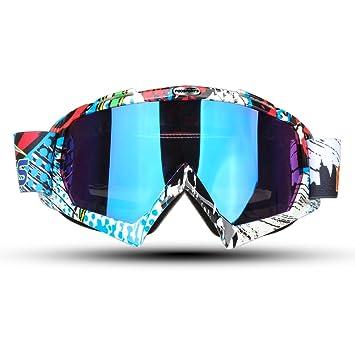 f8f6566a12 Fodsport Gafas de moto Gafas crossed Gafas ciclismo Gafas Protección  Mascara para Moto Motocross Esqui Deporte Ajustable (Multicolor A):  Amazon.es: Juguetes ...