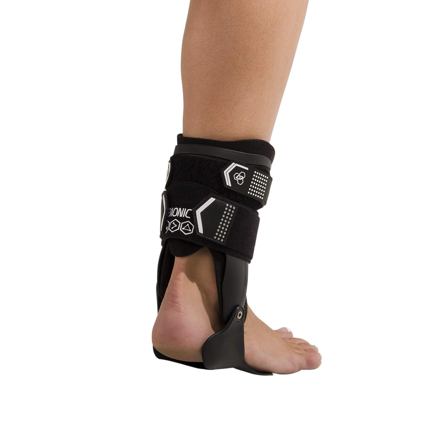 DonJoy Performance Bionic Stirrup Ankle Braces (Right and Left Pair), Maximum Medial Lateral Ankle Support, Low-Profile Rigid Brace, Adjustable - Black, Medium - Value Bundle by DonJoy Performance (Image #4)