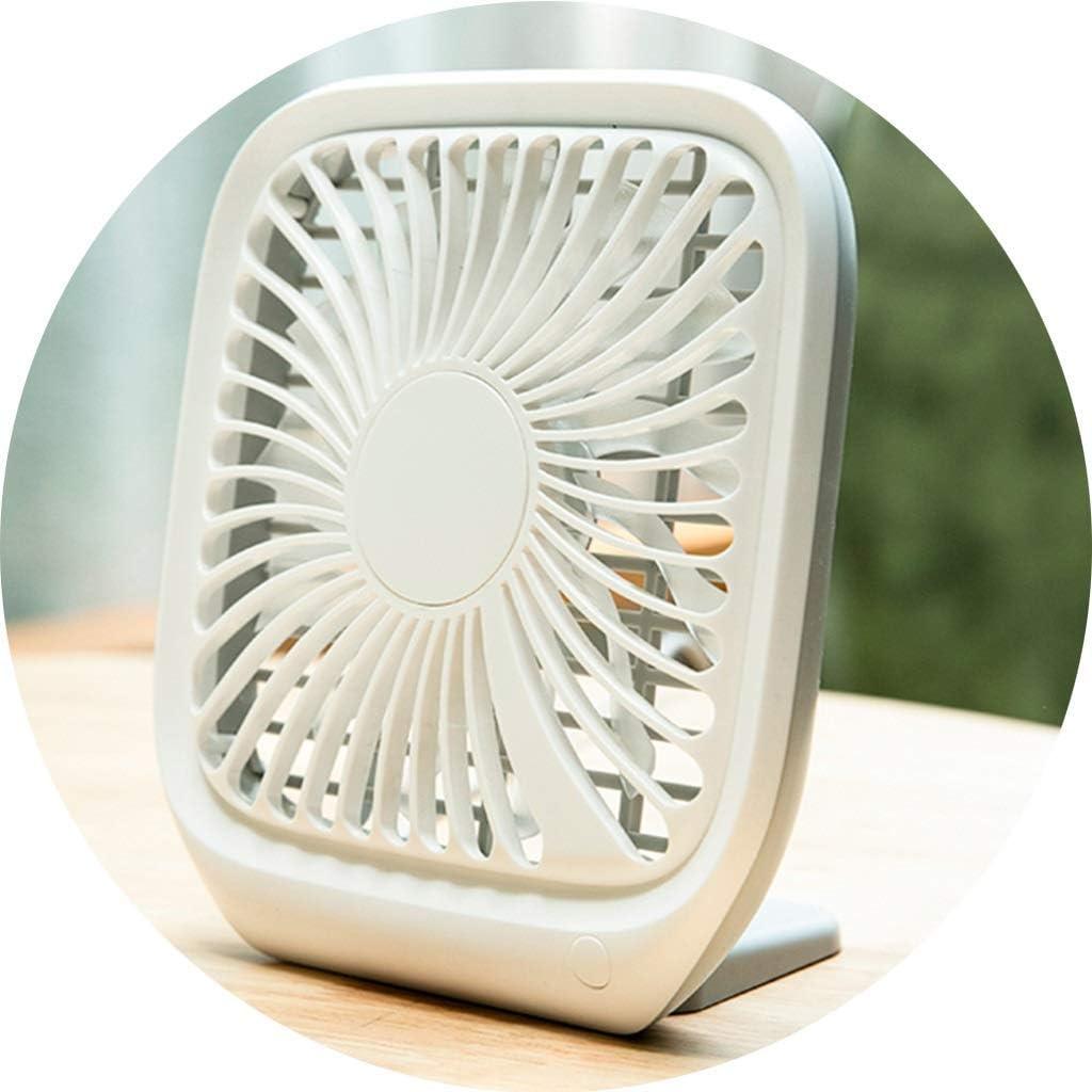 JHSHENGSHI Escritorio Ventilador eléctrico Ventilador de enfriamiento portátil Disipación de Calor Ultrafina USB Oficina Aire Acondicionado frío Cama de Estudiante Cama Hogar portátil