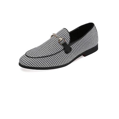 NXY de los Hombres Casual Mocasines Estilo británico Ponerse Zapatos de conducción Moda Zapatos de Vestir: Amazon.es: Zapatos y complementos