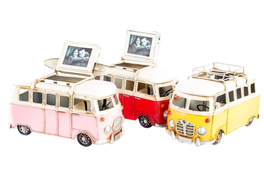 Hippie Bus Camper Van Becher Rahmen Fotos rot: Amazon.de: Küche ...