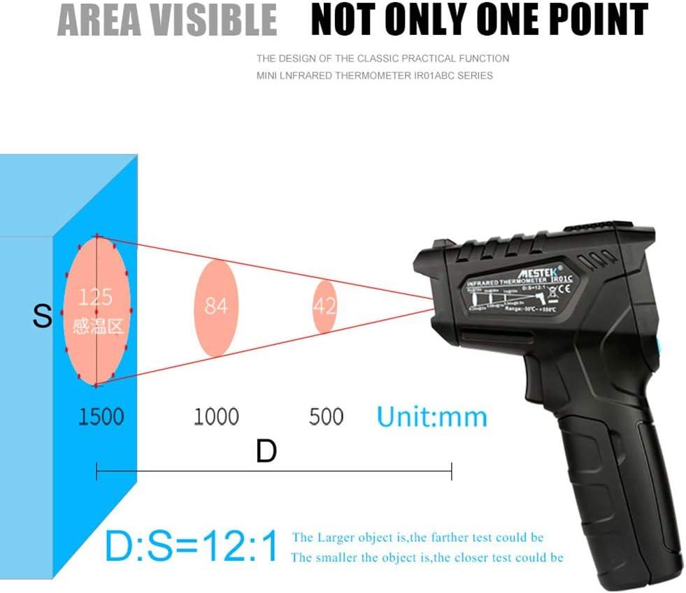 ZJM Termometro Laser a infrarossi -50 ℃ ~ 550 ℃ Misuratore di Temperatura ad Alta precisione Senza Contatto Display LCD Pistola di Temperatura Industriale Laser autentica Ufficiale