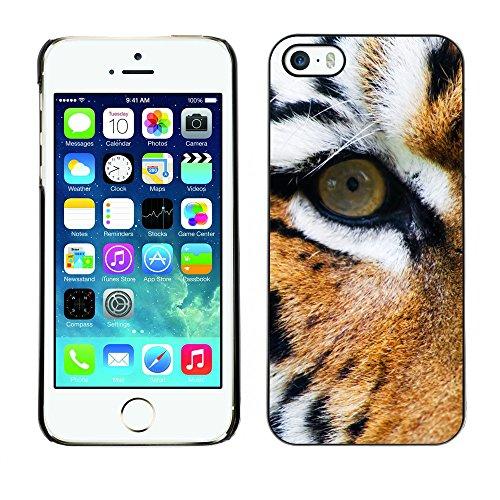 Premio Sottile Slim Cassa Custodia Case Cover Shell // V00002223 tigre // Apple iPhone 5 5S 5G