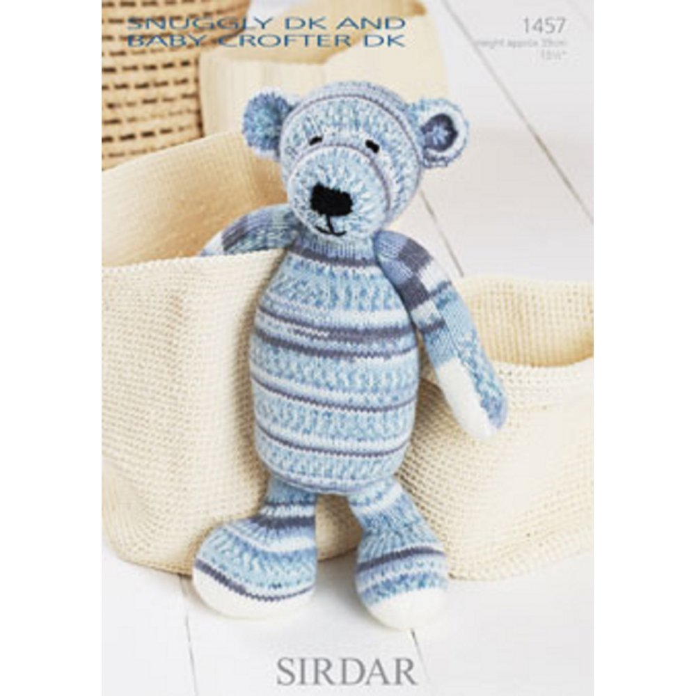 Sirdar Knitting Pattern 1457 Baby Crofter Teddy pattern: Amazon.co ...