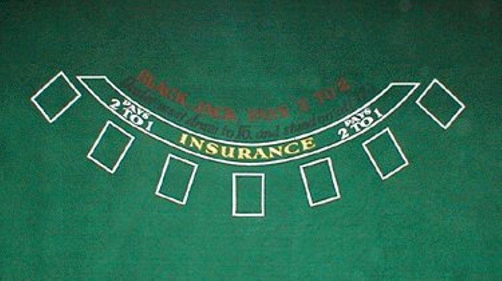 72 X 36 Inch Full Size Green Blackjack Table Felt Layout - Includes Bonus Deck of Cards! Brybelly