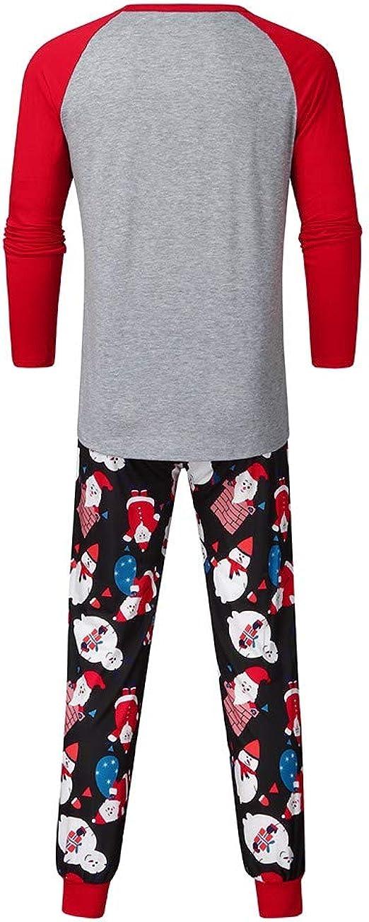 Saingace - Pijama de Navidad, Familia de Pijamas, Halloween, Pack Familiar, para Hombre, Manga Larga, Estampado de Dibujos Animados, Calabaza, murciélago Stil D - Rot XL: Amazon.es: Ropa y accesorios