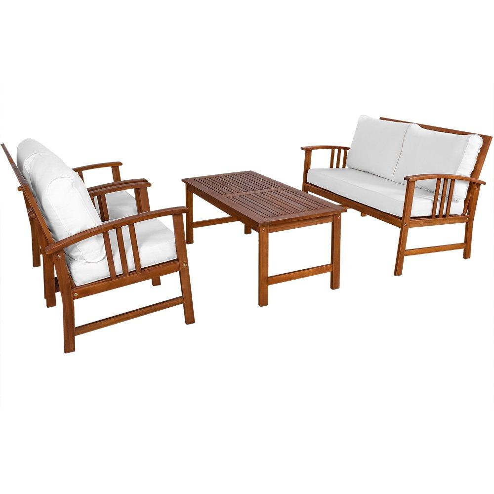 Amazon.de: Deuba® Lounge Sitzgruppe Atlas | 9, 5cm dicke Auflagen ...