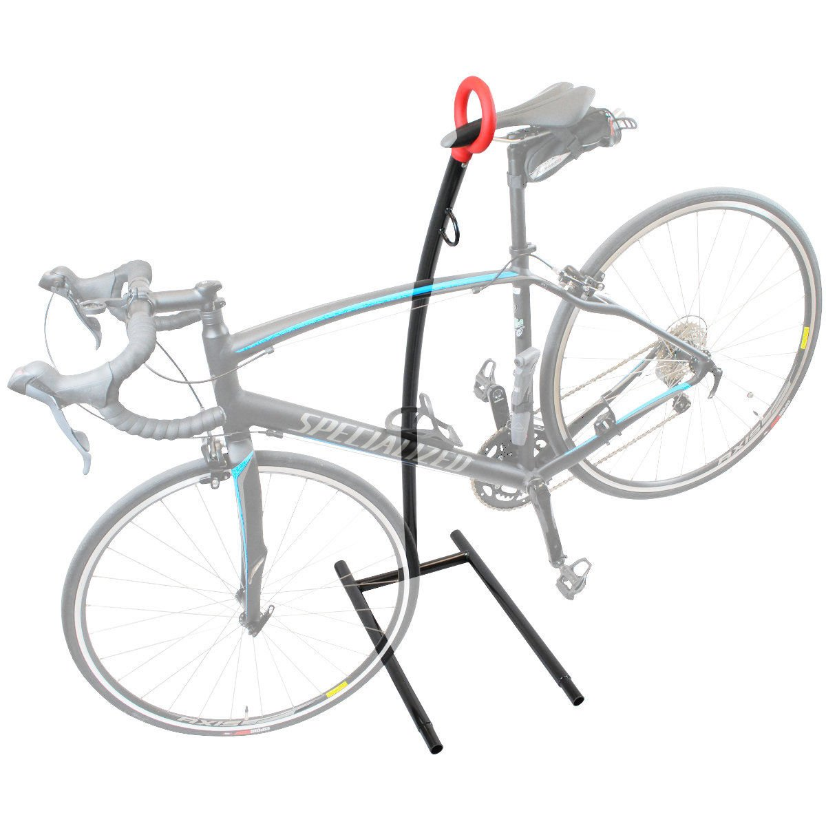 New Bike Storage Floor Rack Parking Stand Holder Wheel Cycling Steel Home Garage N Special Intro Pricing! Hang Your Bike By The Seat!
