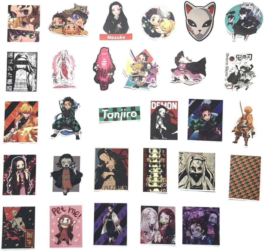 Maidudu 100 Pcs Demon Slayer Stickers Kimetsu no Yaiba Anime Sticker