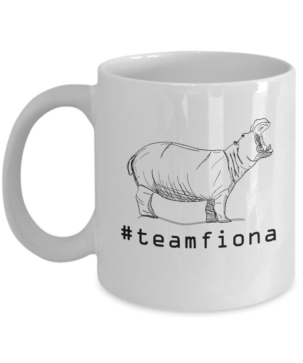Amazon.com: Fiona The Baby Hippo #teamfiona Hippopotamus Mug ...