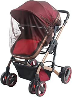 Gemini_mall® Universal Insect Net, Infants Baby Insect Mosquito Net for Stroller Prams Bassinets Pushchairs Crib Baby Cart Full Cover (Pink)