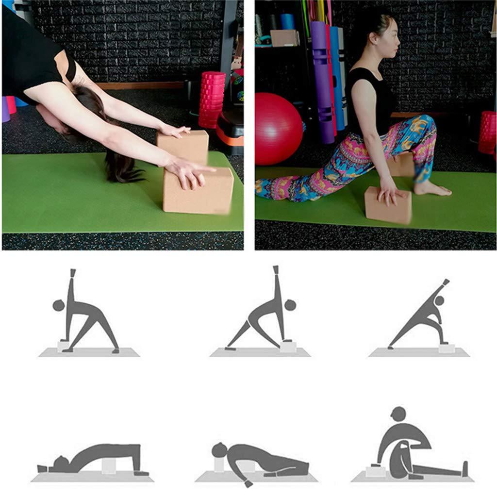 NSC - Bloque de Corcho para Yoga, Natural y ecológico, 1 ...