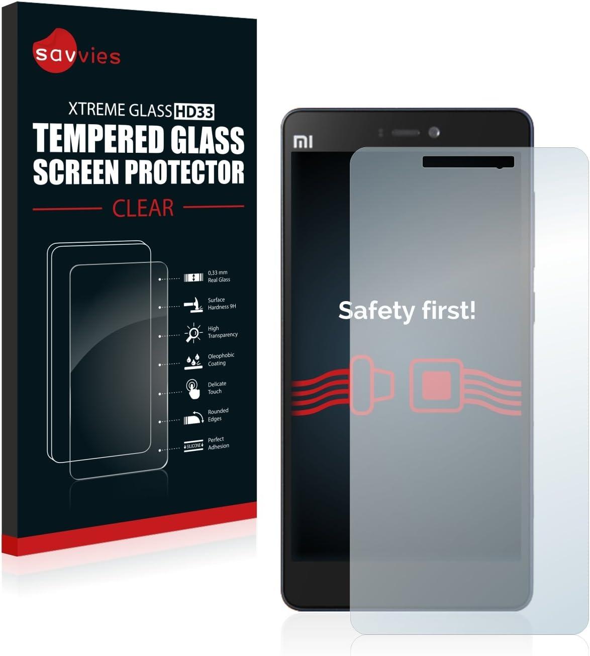 savvies Cristal Templado Compatible con Xiaomi Mi 4c Protector ...