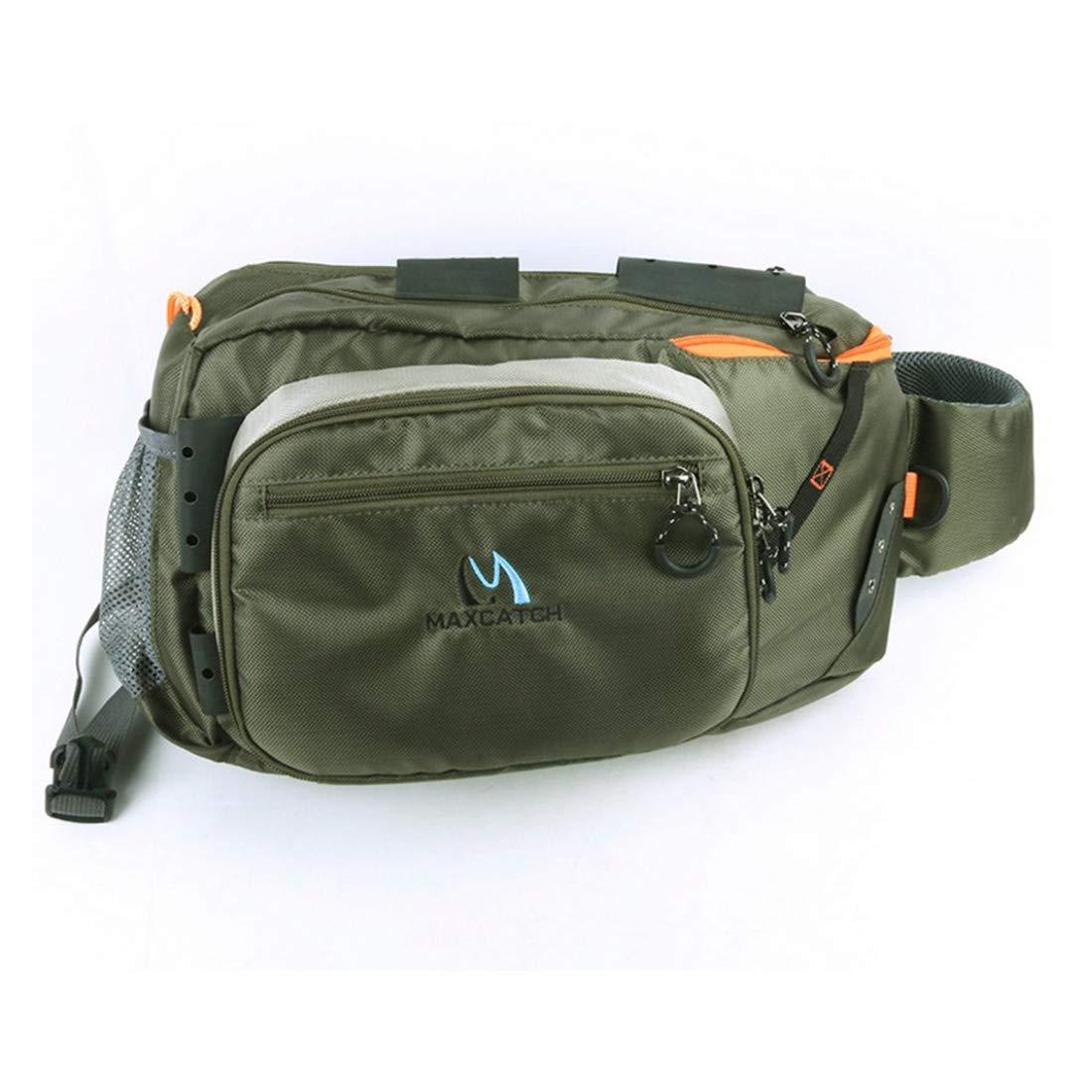Kunliyin YY1 Outdoor-Durable und praktische Polyester grüne Farbe Messenger Raft Fishing Bag (Farbe : Grün)