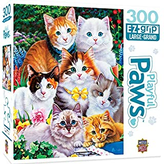 MasterPieces Playful Paws - Puuurfectly Adorable 300pc EzGrip Puzzle,Assorted