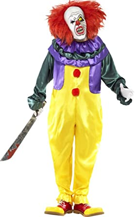 classic horror clown costume medium - Amazon Halloween Costumes Men