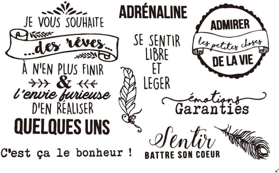 MOTS FrenchTransparent Clear Silicone Stamp//Seal pour scrapbooking DIY//album photo D/écoratif timbre clair A1101