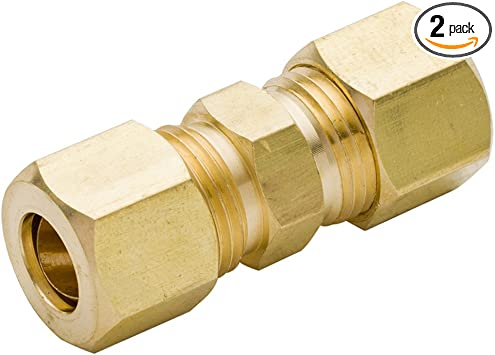 Boeray 2pcs Brass Tube Fitting 5//8 to 5//8 Compression Union Fitting
