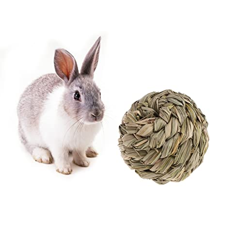 Biniwa - Pelota de Paja de césped Natural para Mascotas con ...