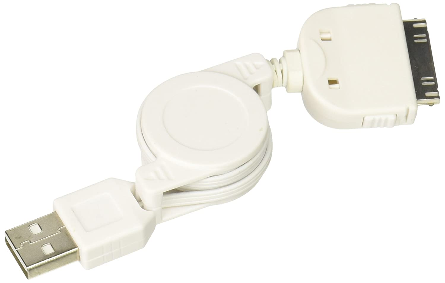 outlet Generic Orion Gadgets Retractable Sync and Charge USB Cable for Apple iPhone 3G - Non-Retail Packaging - White