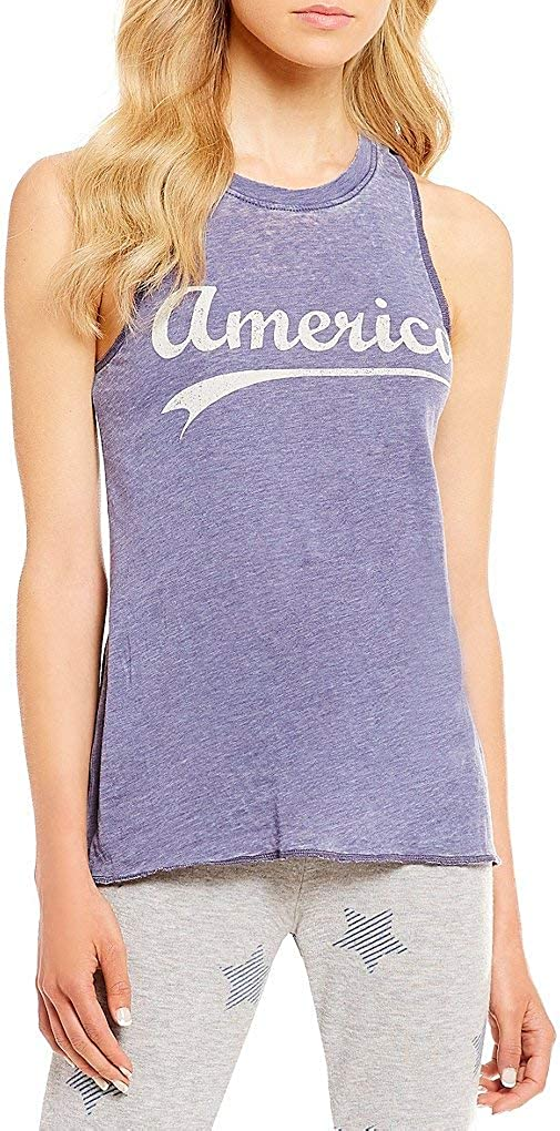 PJ Salvage America-Screen Print Jersey Knit Sleep Tank